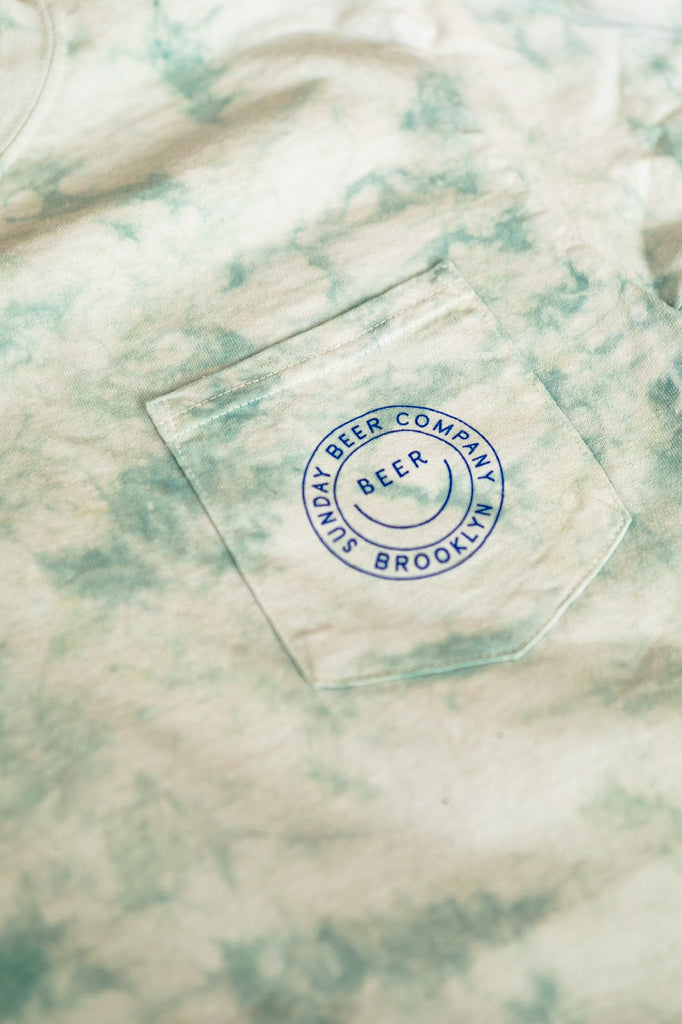 Smiley Tie-Dye Long Sleeve Pocket
