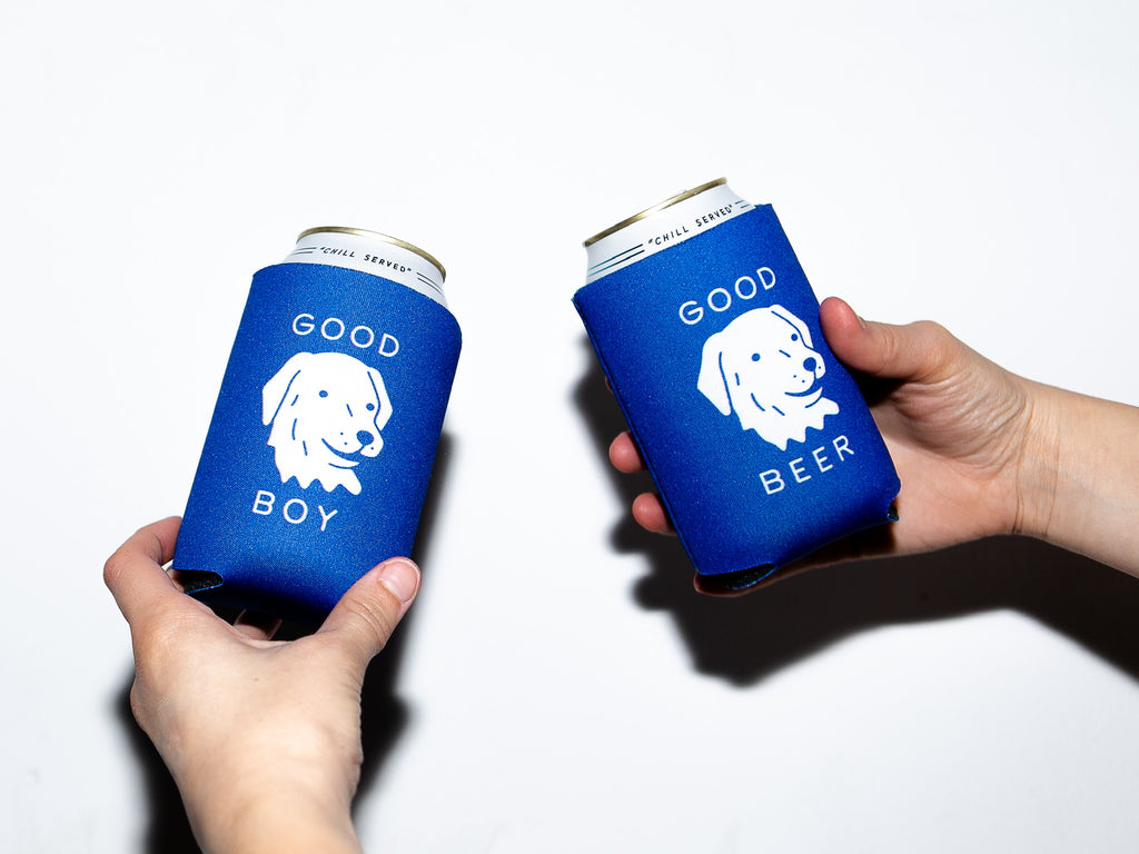 YJ x Sunday 'Good Boy Good Beer' Koozie