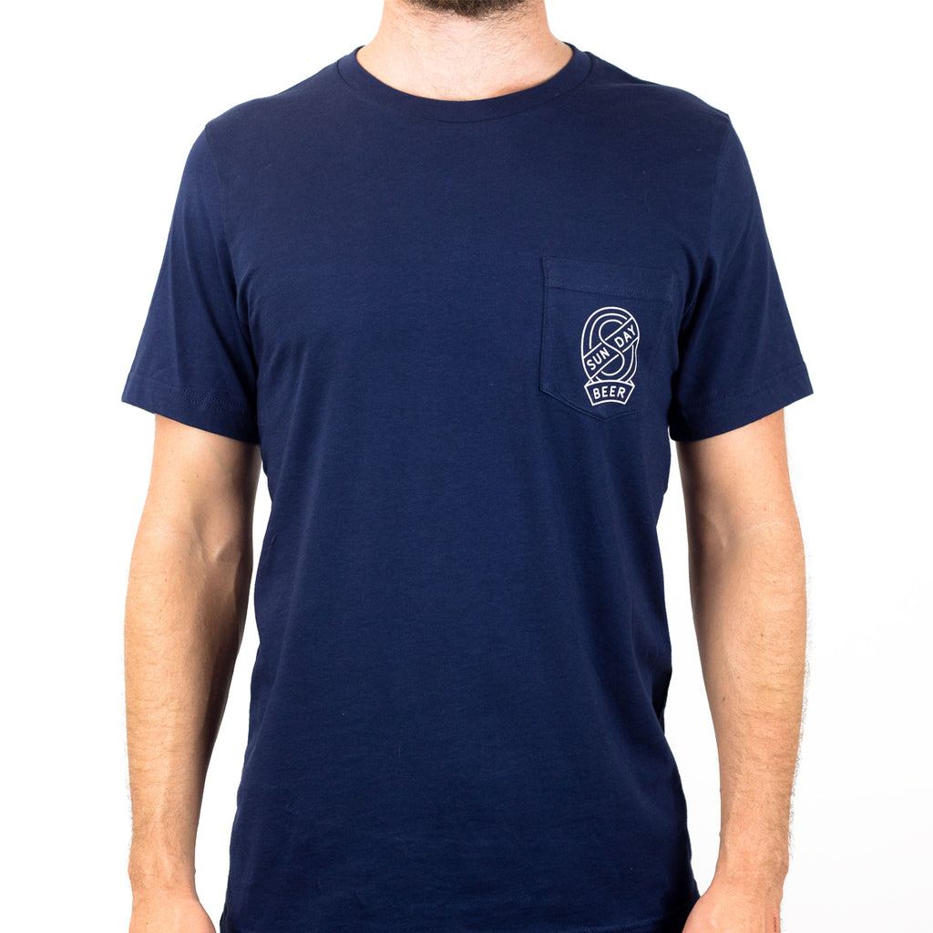 SUNDAY BADGE POCKET TEE