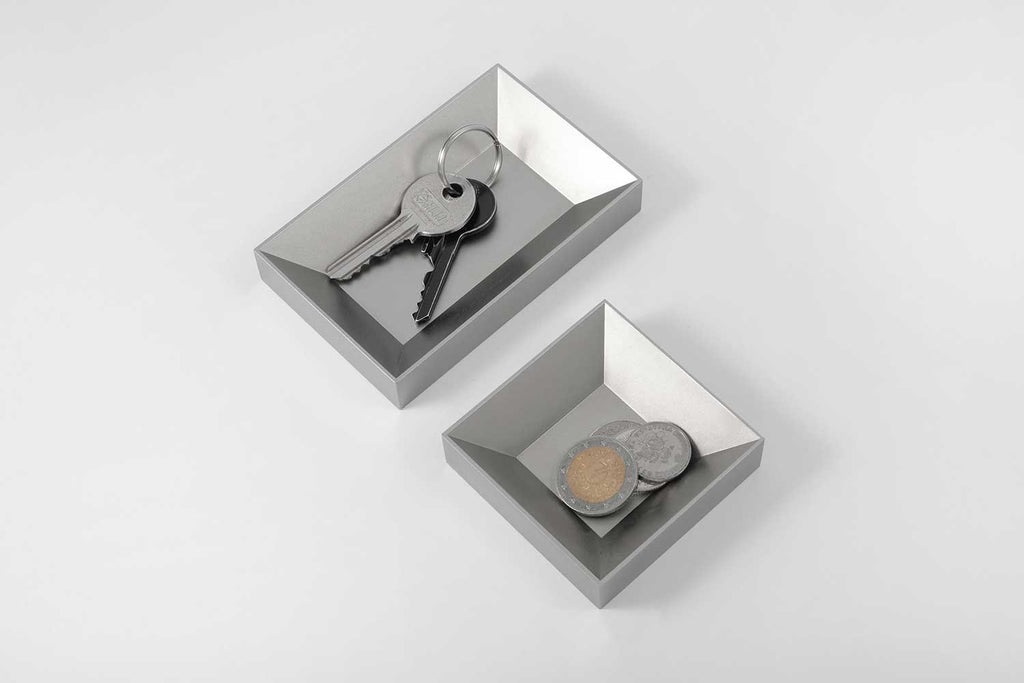 12.3 organiser <br><i>satin silver finish</i>