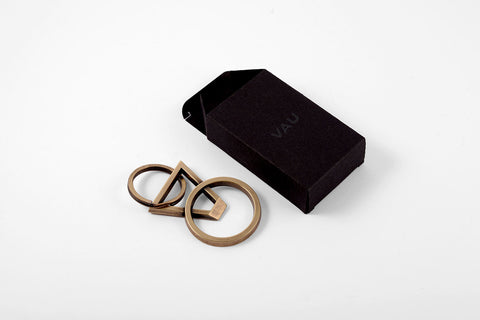 DYAD keyring bottle opener <br><i>aged brass finish</i>