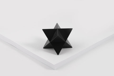 MERKABA paperweight <br> <i>black oxide finish</i>