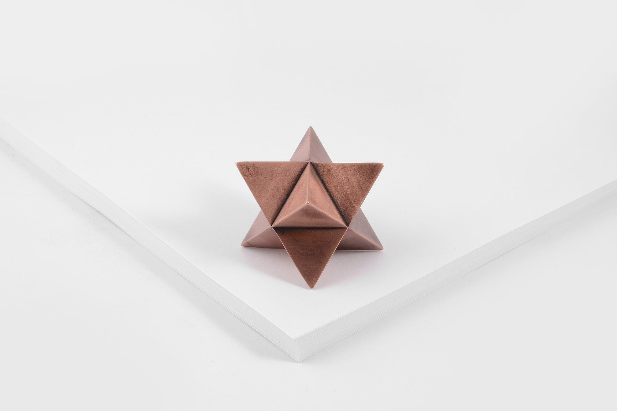 MERKABA paperweight <br><i> aged copper finish</i>