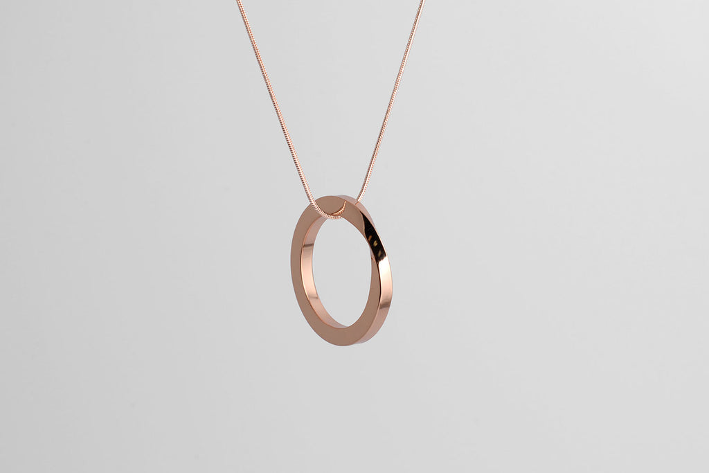OROBORUS necklace <br> <i> rose gold finish</i>