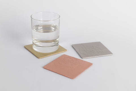 PHI coaster <br> <i>satin silver finish</i>