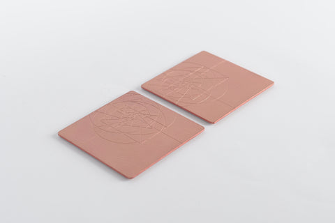 PHI coaster <br> <i> satin copper finish</i>