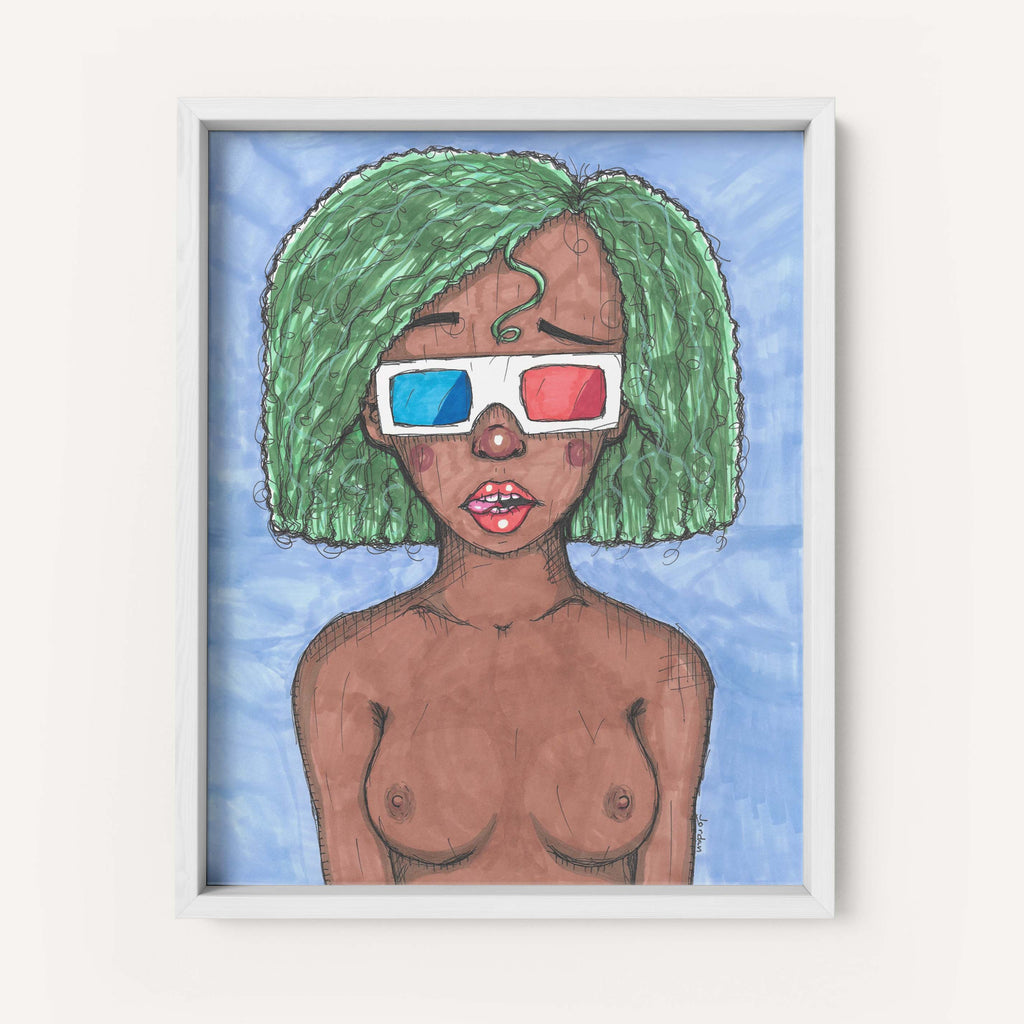 "Jordan W. Hill Art ""3D Glasses"" - Fine Art Print"