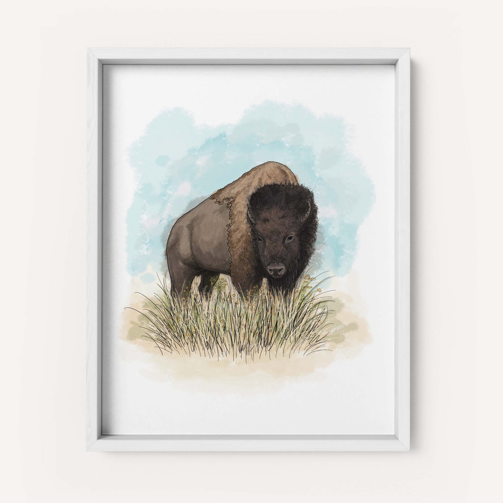 "Montessa the Artist ""American Bison"" - Fine Art Print"