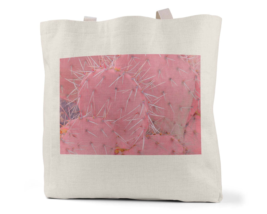 "Low Saturn ""Bubblegum Pricklies"" - Linen Shopping/Tote Bag"
