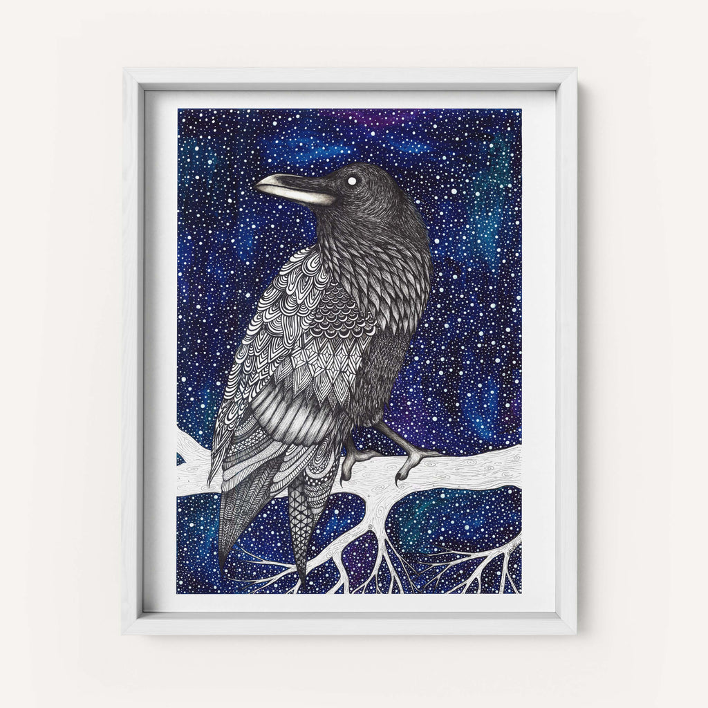 "Savvy Art ""Space Raven (Colored Version)"" - Fine Art Print"