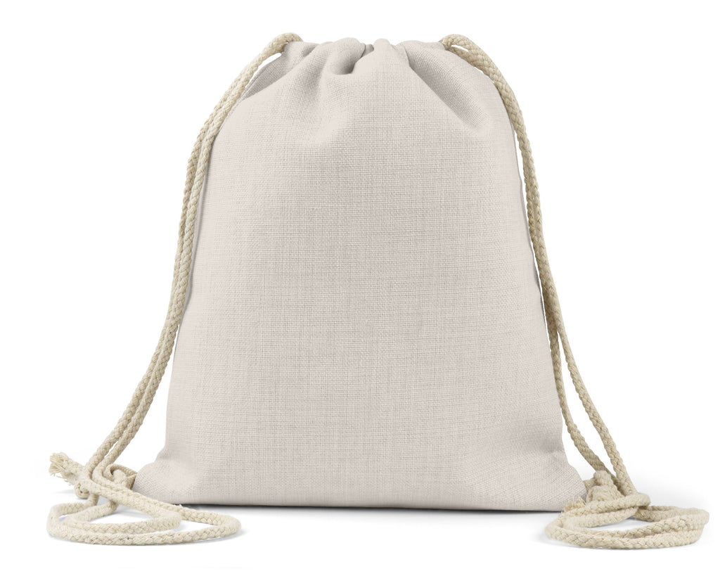 "Blank/Customizable 11.5"" x 15.5"" Linen Drawstring Bag"
