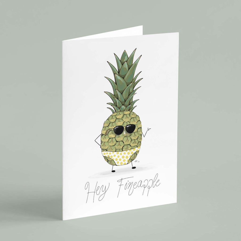"BehindTheBits ""Hey Fineapple"" - Greeting Card"