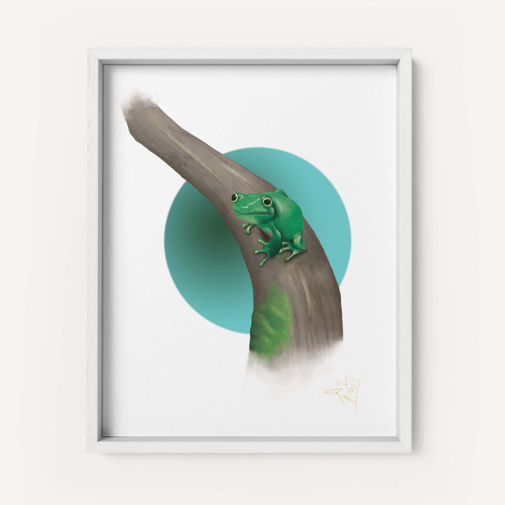 "RencArt ""Frog"" (Animal Studies Series) - Fine Art Print"