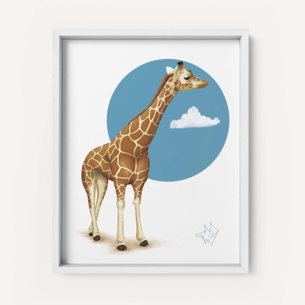 "RencArt ""Giraffe"" (Animal Studies Series) - Fine Art Print"