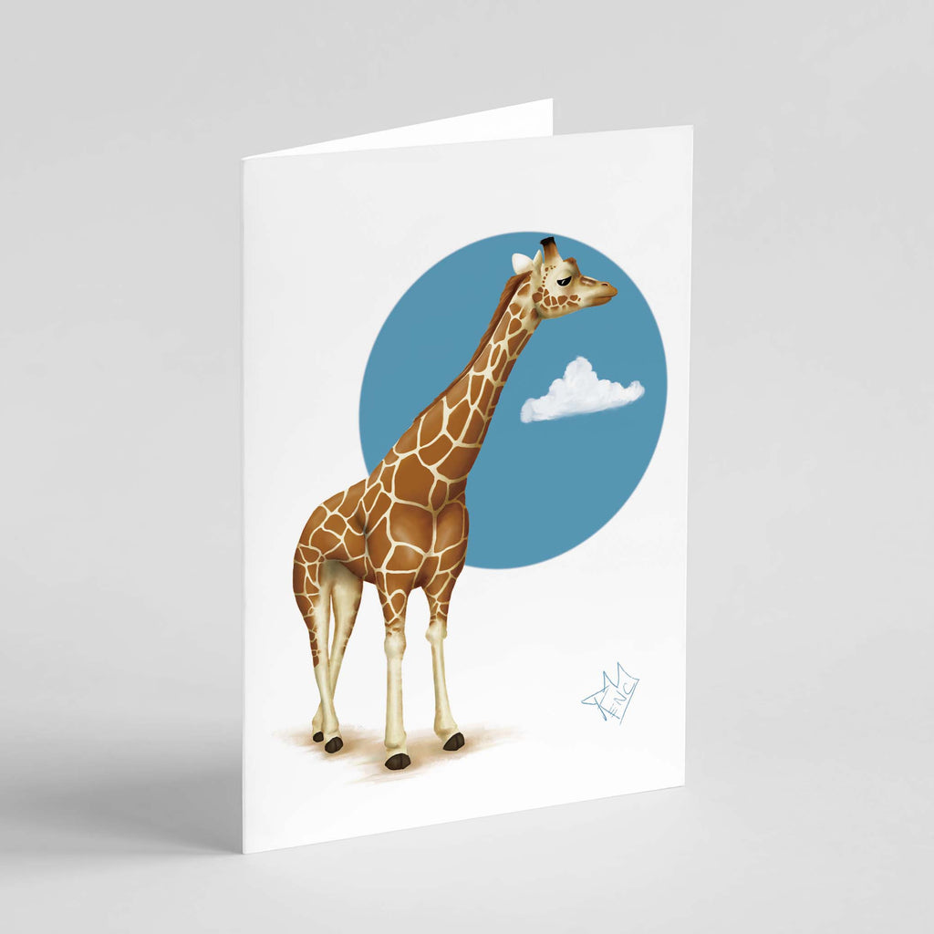 RencArt - Giraffe - Animal Studies Series - Greeting Card