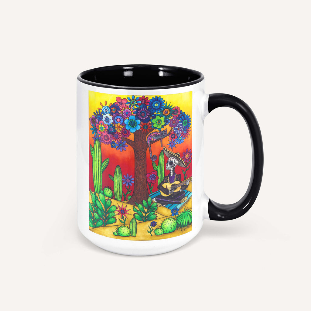 "Savvy Art ""Mariachi Sunrise"" - 15oz Coffee Mug"