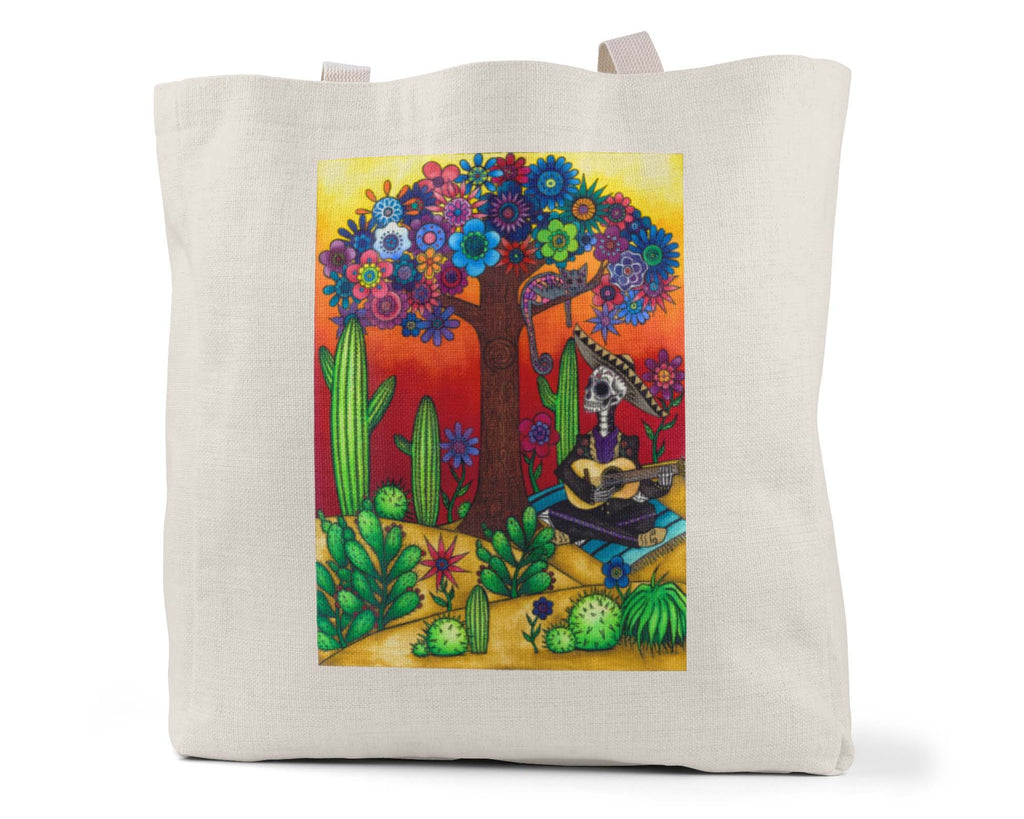 "Savvy Art ""Mariachi Sunrise"" - Linen Shopping/Tote Bag (Multiple styles available!)"