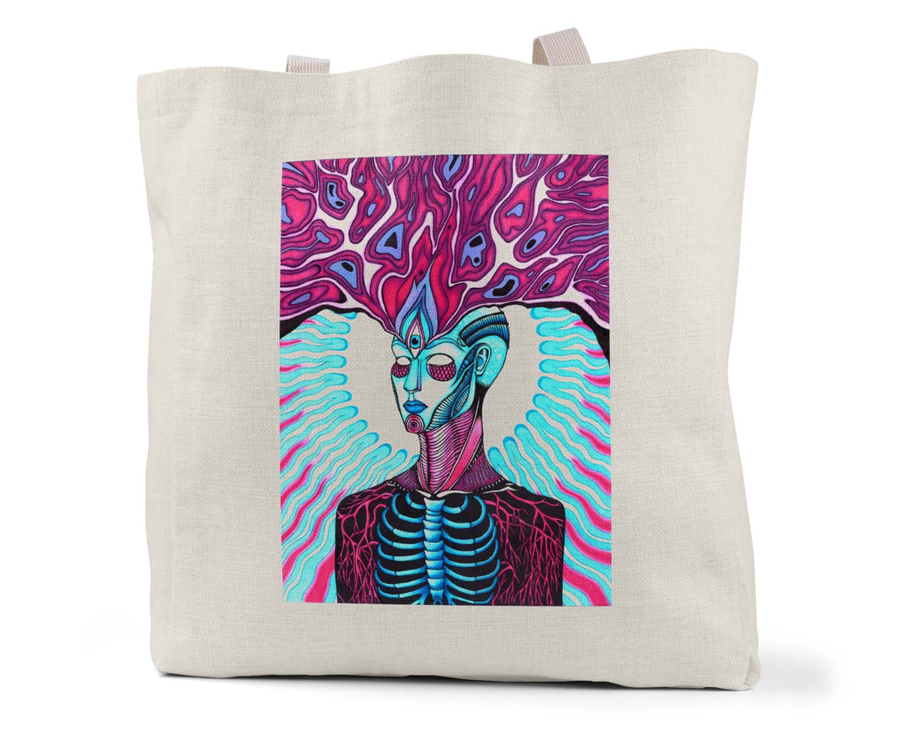 "Savvy Art - ""Mind's Eye"" Linen Shopping/Tote Bag"