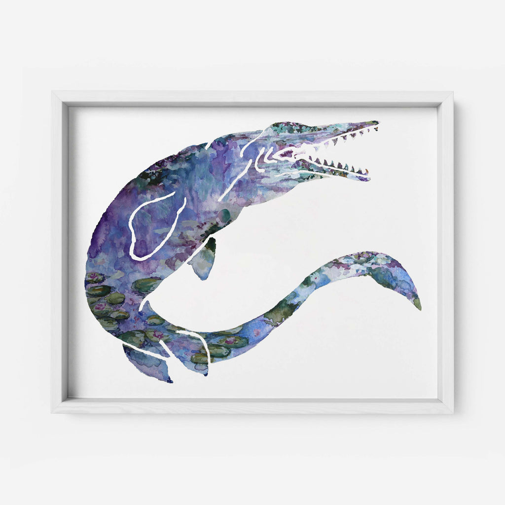 "Pomegranate Muse - ""MONETsasaur"" - Fine Art Print"