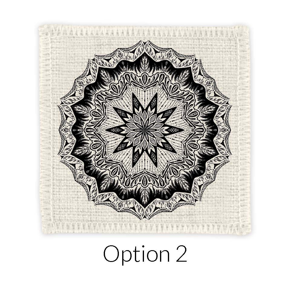 RencArt - Mandala Linen Coasters - Create your own set of 2