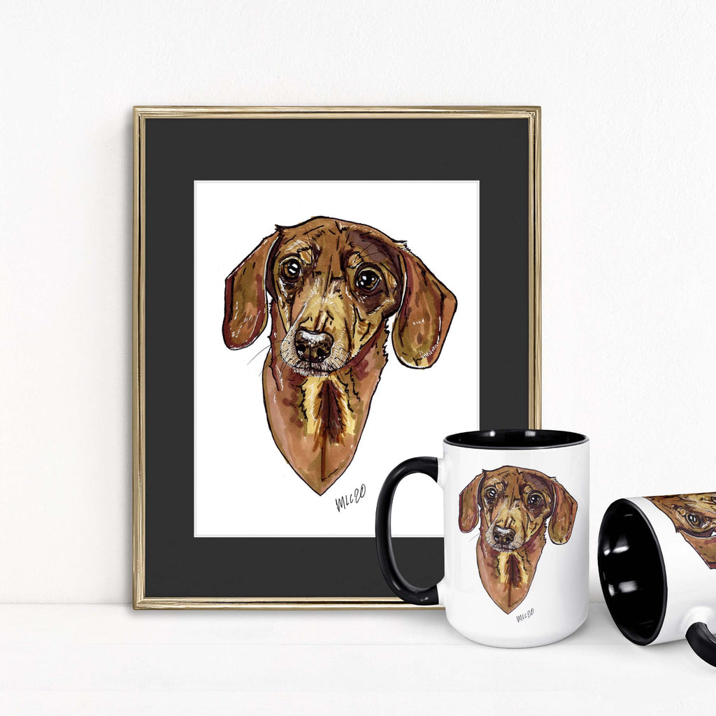 Animal Ink Co. - Custom Pet Portrait with Matching Mug