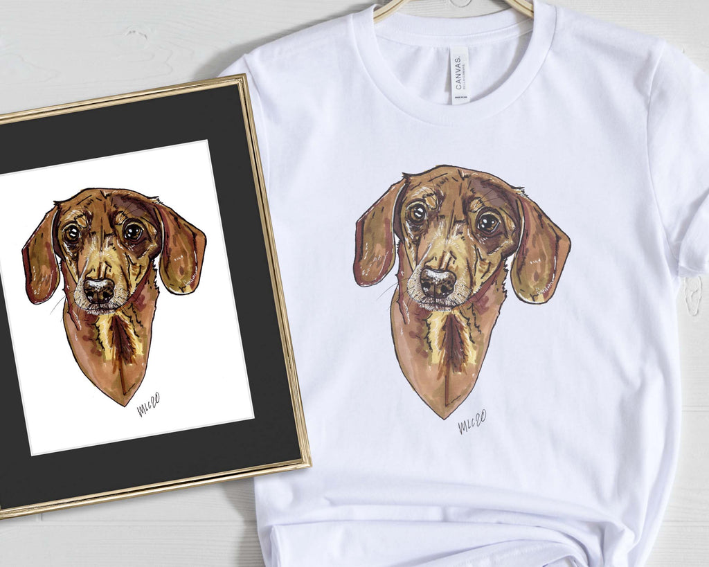 Animal Ink Co. - Custom Pet Portrait with Matching T-Shirt