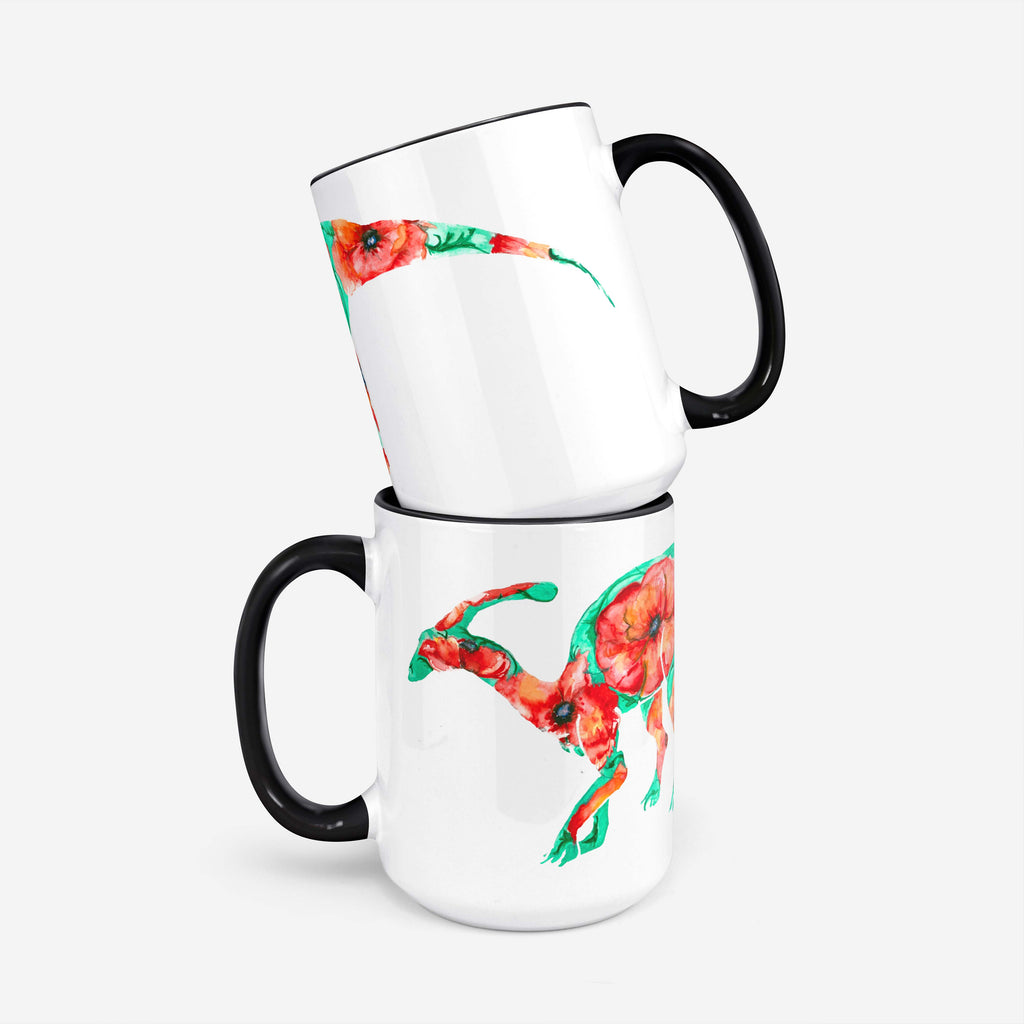 "Pomegranate Muse - ""POPPYsaurolophus"" 15oz Coffee Mug"