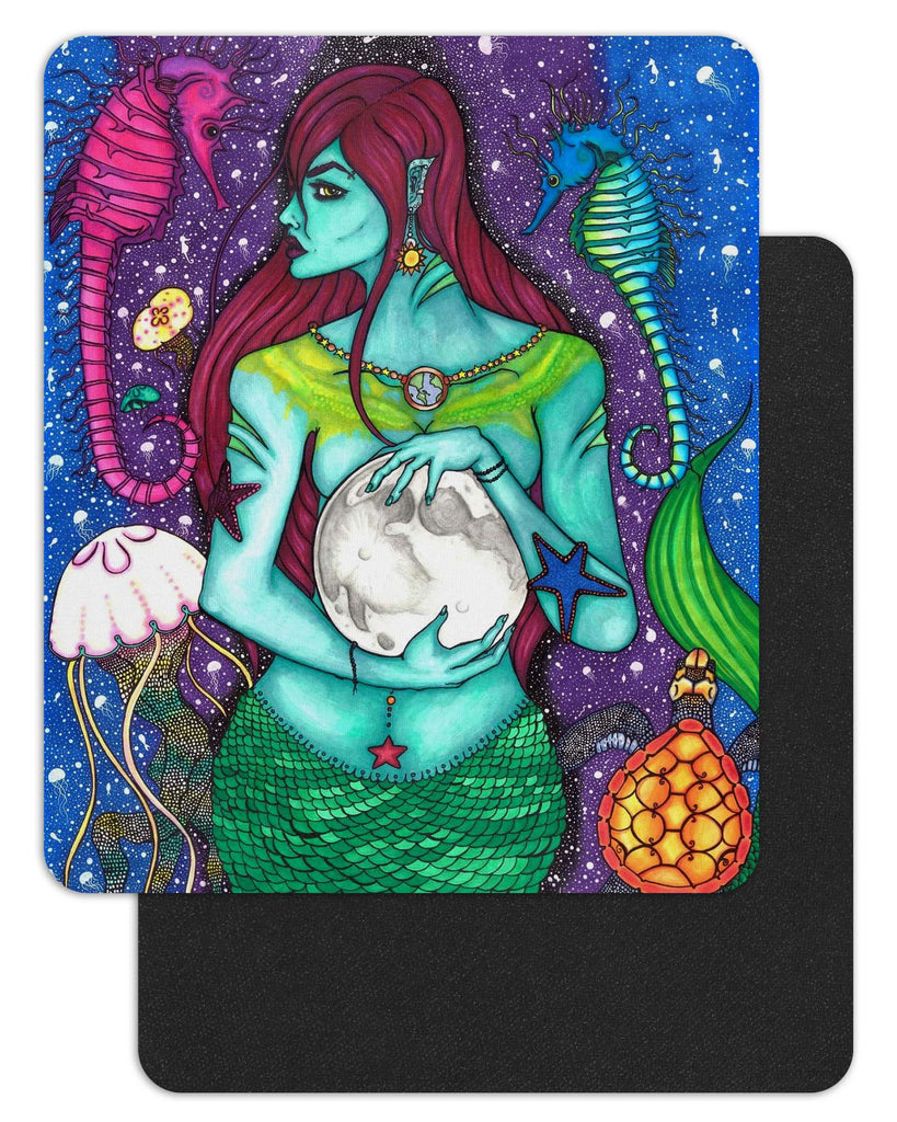 "Savvy Art ""The Protector (Version 2)"" - 7.75"" x 9.25"" Black-Backed Mousepad"