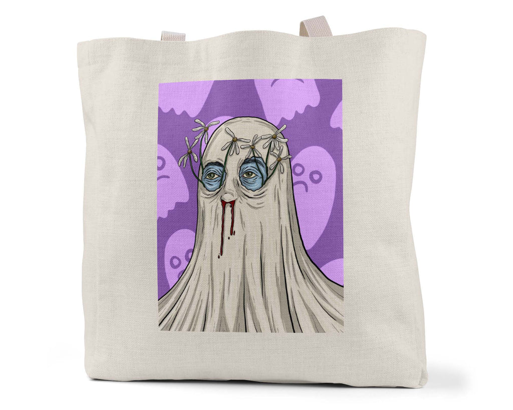 "Zoinkd Art ""Pushing Daisies"" - Linen Shopping/Tote Bag (Multiple styles available!)"