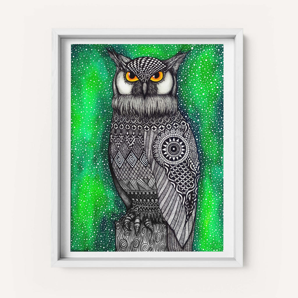 "Savvy Art ""The Watcher (Colored Version)"" - Fine Art Print"