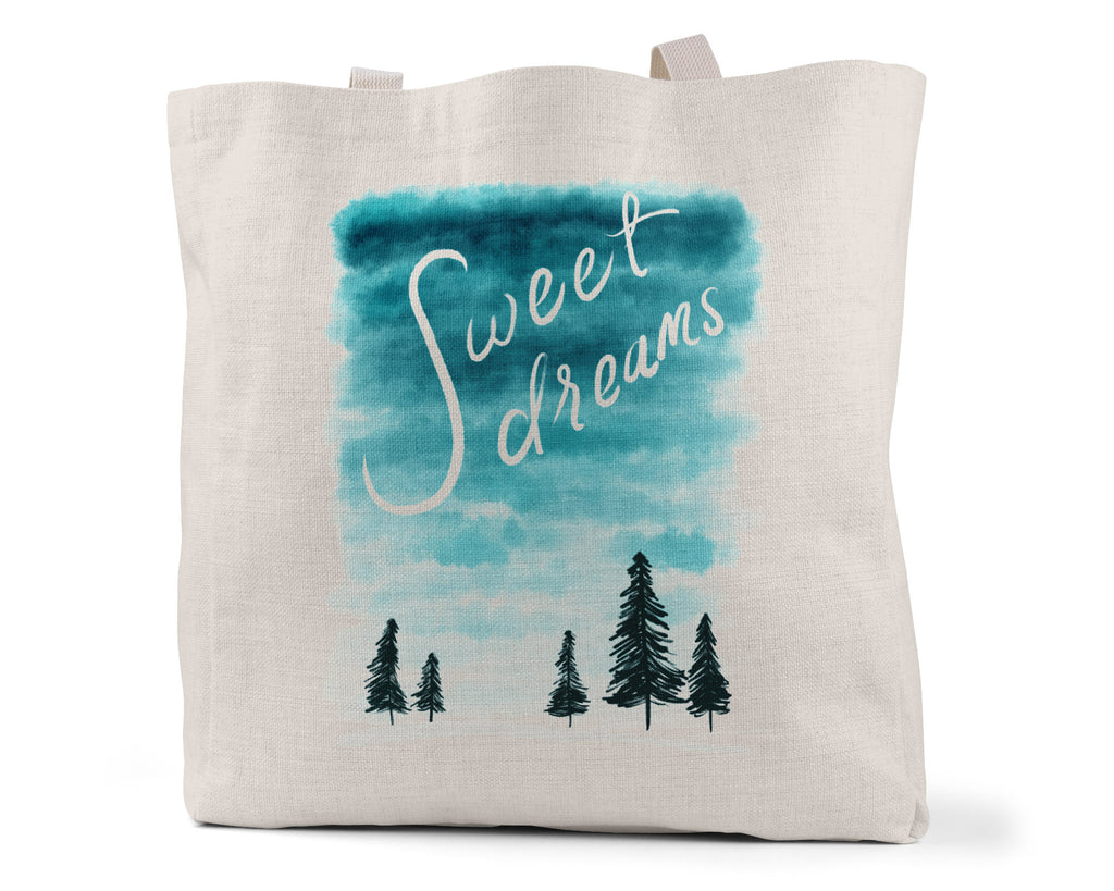 "LMN Designs ""Sweet Dreams"" - Linen Shopping/Tote Bag (Multiple styles available!)"