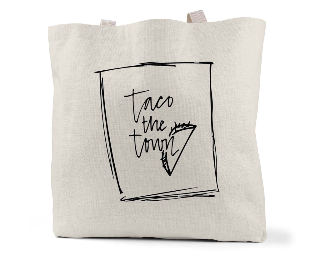 "Wild Caught Co. ""Taco the Town"" - Linen Shopping/Tote Bag (Multiple styles available!)"