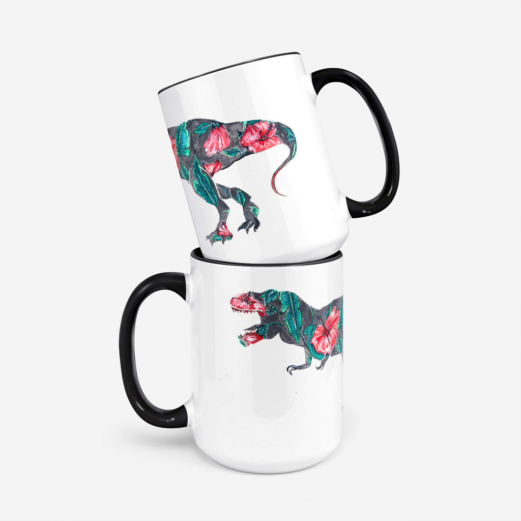 "Pomegranate Muse - ""Syriacusaurus Rex"" 15oz Coffee Mug"