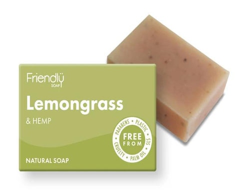 Lemongrass & Hemp Natural Soap Bar - Emerald Earth