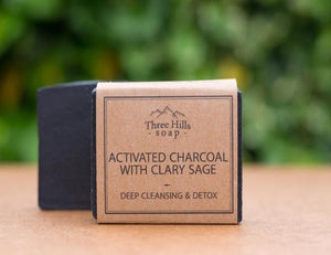 Activated Charcoal & Clary Sage Facial Bar - Emerald Earth