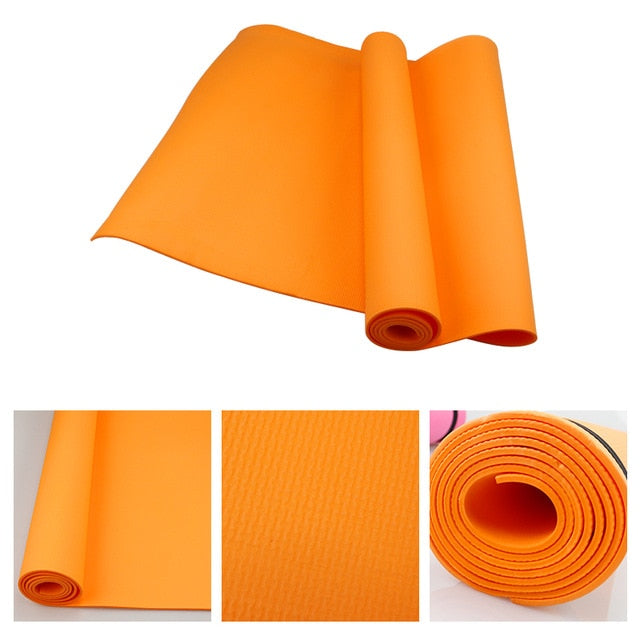 Yoga Mat - Orange - 4MM PVC Anti-slip