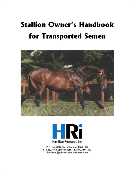Stallion and Veterinarian Handbook $11.00 - TO ORDER CLICK ON RED LINK BELOW