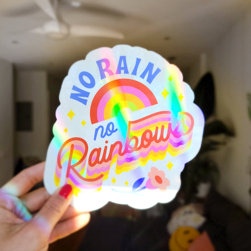 No Rain No Rainbow Suncatcher