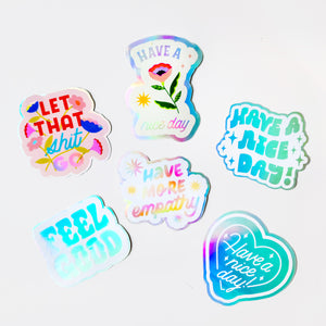Big Holographic Sticker Set of 6