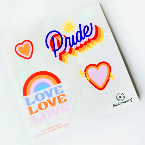 Pride Suncatcher Sheet (4 Stickers)