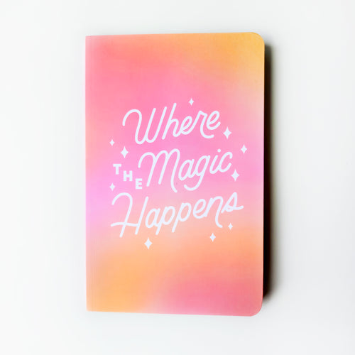 Where The Magic Happens Dotted Notebook