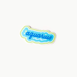 Aquarius Clear Die Cut Sticker