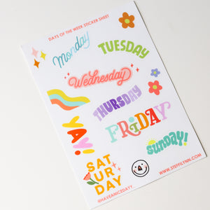 Days of The Week Sticker Sheet