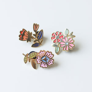 Flower Pins Set