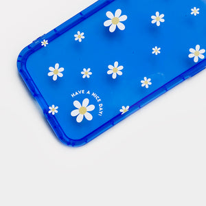 Claire Neon Blue Phone Case