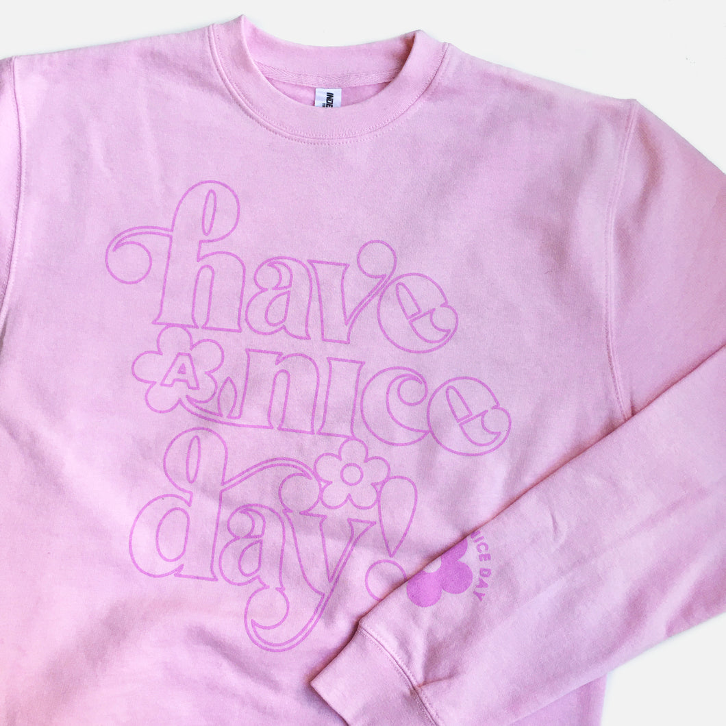 Have a Nice Day Daisy Sweatshirt (Orchid)