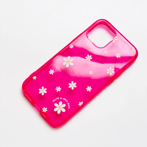 Claire Neon Pink Phone Case
