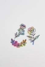 Load image into Gallery viewer, Floral Holographic Sticker Set