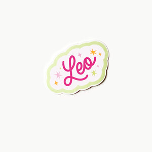 Leo Clear Die Cut Sticker
