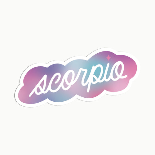 Gradient Scorpio Clear Die Cut Sticker